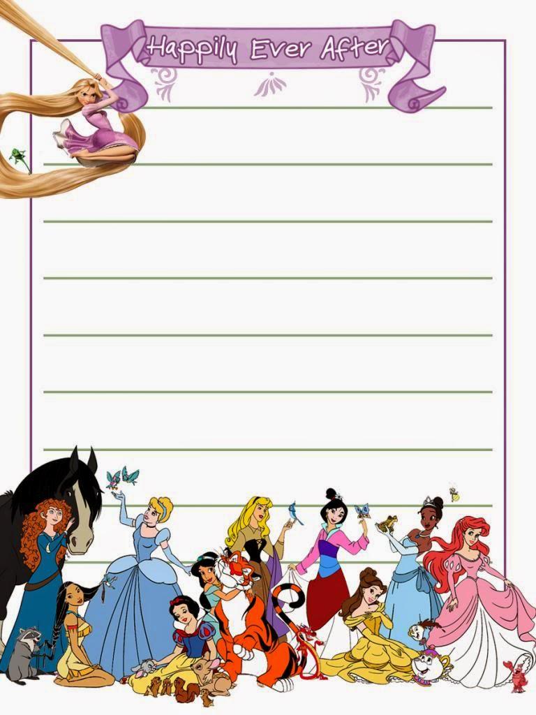 Disney Princess Free Printable Notebook – Printable Notepad Paper