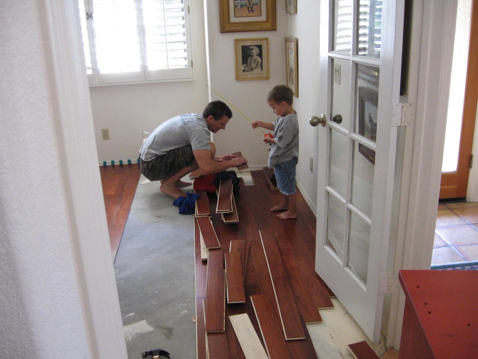 Installing Hardwood Floor, Diy Installing Engineered Wood Floor
