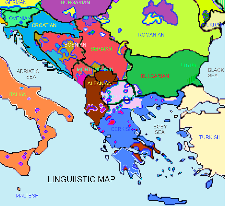 Southeastern Europe Map Thefreebiedepot