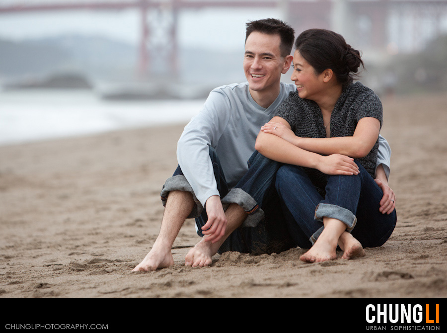 baker beach engagement photographer