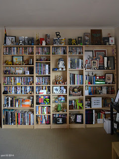 my place: bookcases