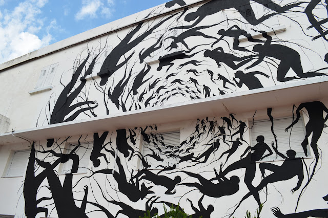 """Vortice"" New Mural BY David De La Mano on the streets of Punta Del Este in Uruguay. 3"