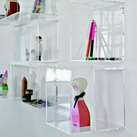 Esclusivo in plexiglass for Cubi mensole