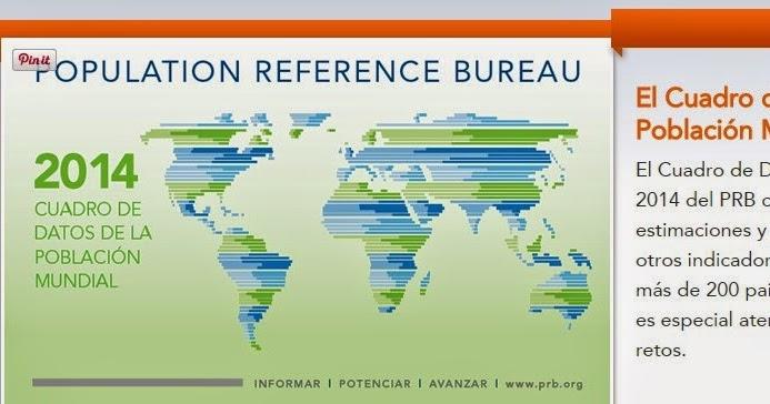 Blog de geograf a profesor pedro o a population reference bureau una buena colecci n de datos - Population reference bureau ...