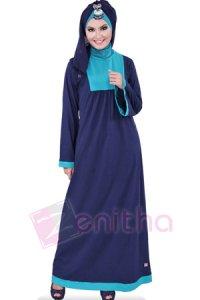 Zenitha Gamis Zn109 - Biru Dongker (Toko Jilbab dan Busana Muslimah Terbaru)