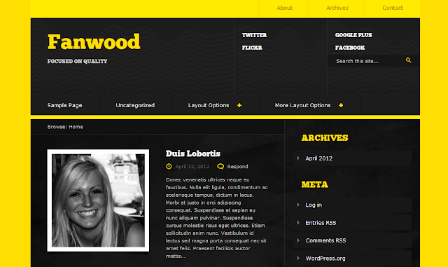 Fanwood Wordpress Theme