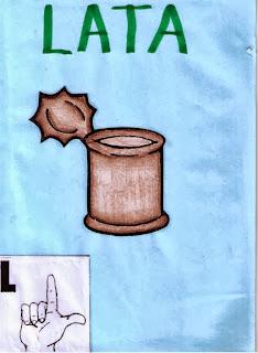 alfabeto libras para imprimir L