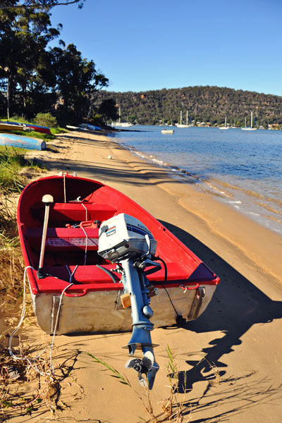 Dangar Island beach