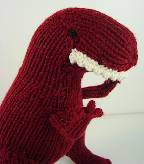 t rex dinosaur knit tyrannosaurus rex toy red maroon
