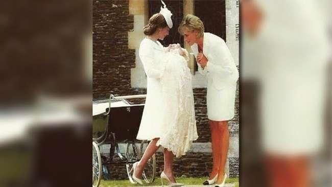 Foto Heboh 'Kehadiran' Putri Diana Saat Pembaptisan Charlotte