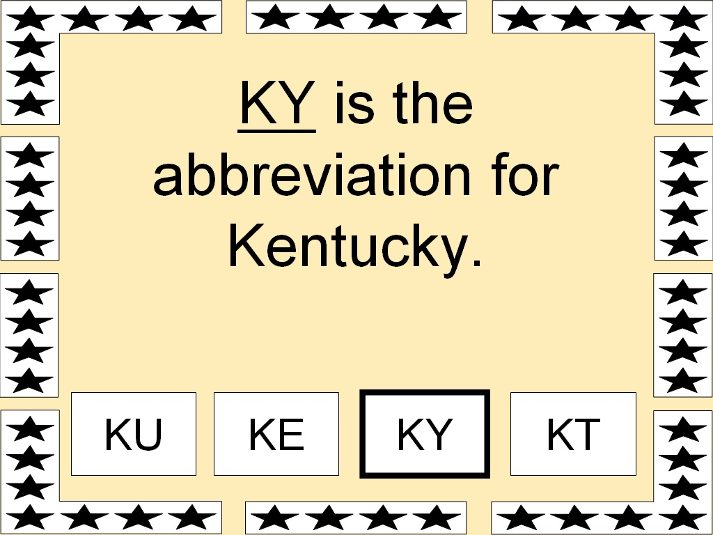 KY Is The Abbreviation For Kentucky