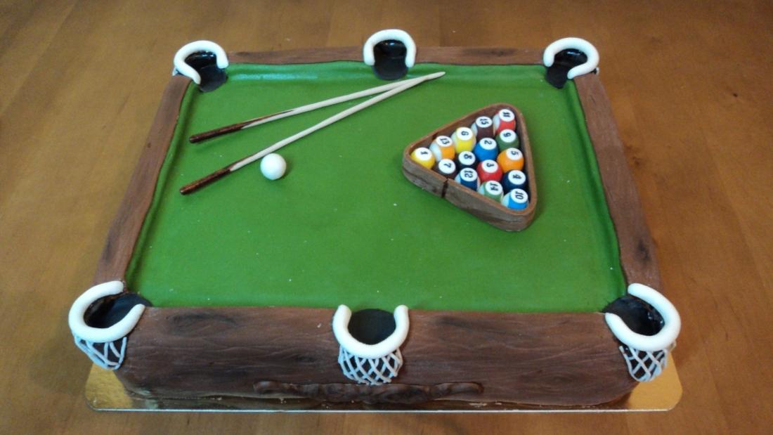 Торт бильярдный стол фото