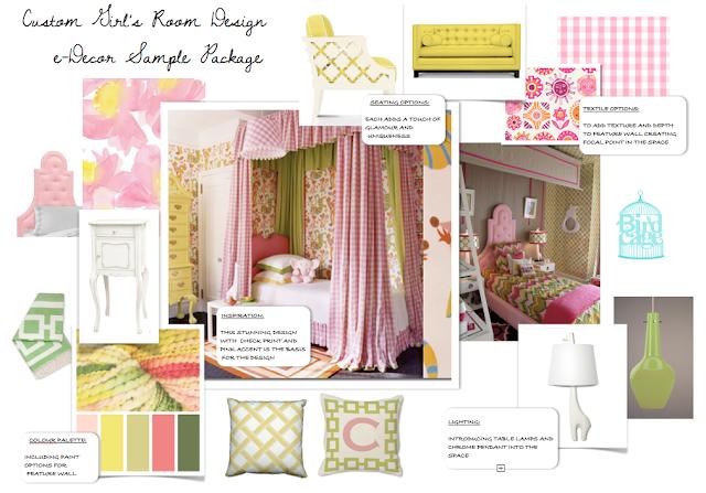 Custom Girlu0027s Room Interior Design, E Decorating Package