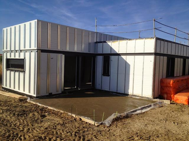 Vivienda modular Resan - Proceso constructivo - Fachada ventilada