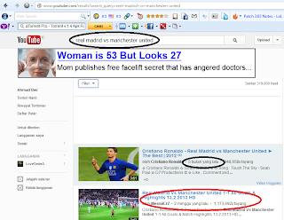 Cara Search Video di Youtube