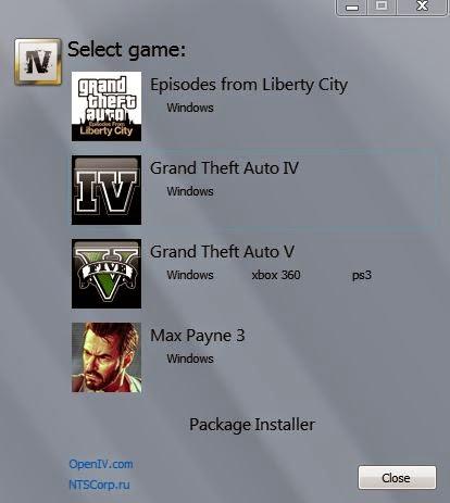OpenIV para Grand Theft Auto V PC para GTA 5