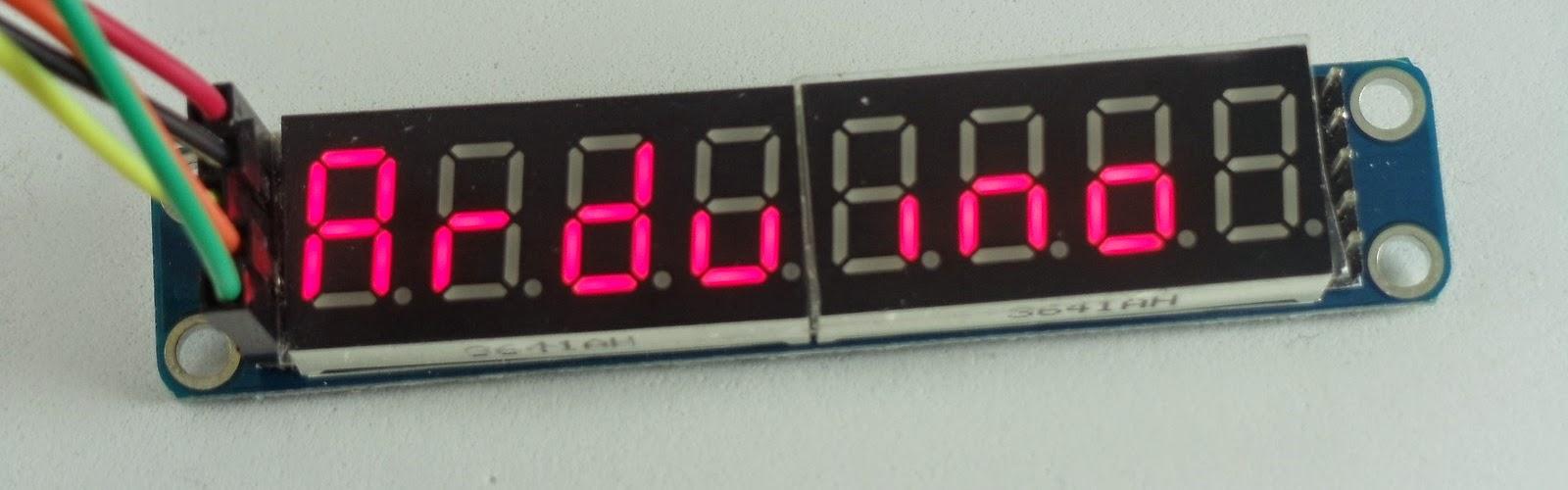 display 7 segmentos 8 digitos max7219