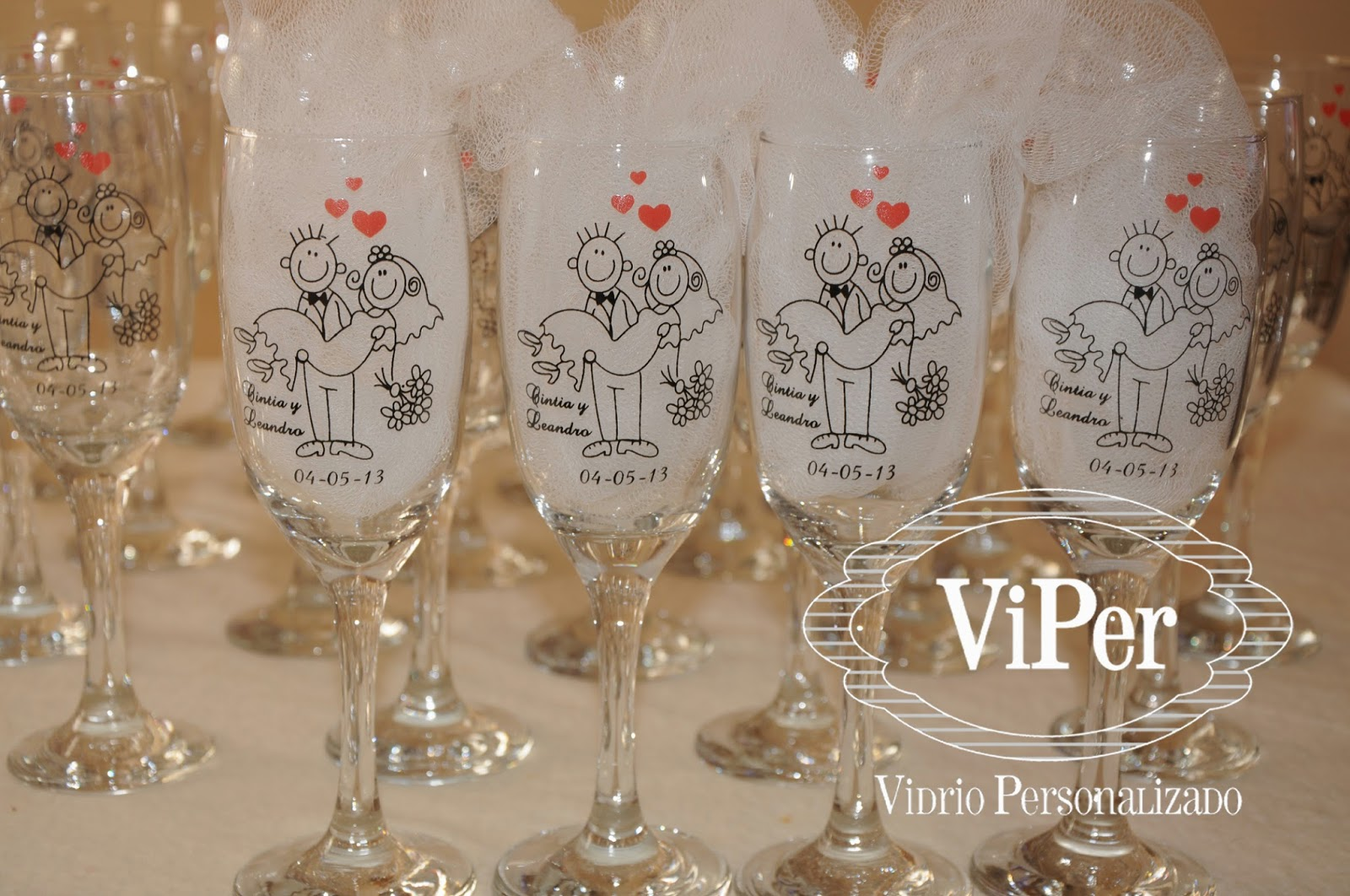 vidrio personalizado y decorado vasos originales copas de vidrio champagne agua ideal. Black Bedroom Furniture Sets. Home Design Ideas