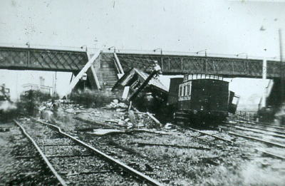 Beattie Well Tank derailed at Farlington 1894