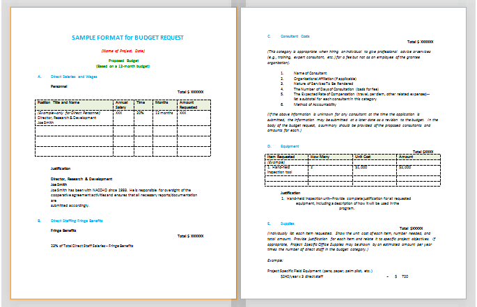 Document Templates October 2015 – Budget Proposal Template Word