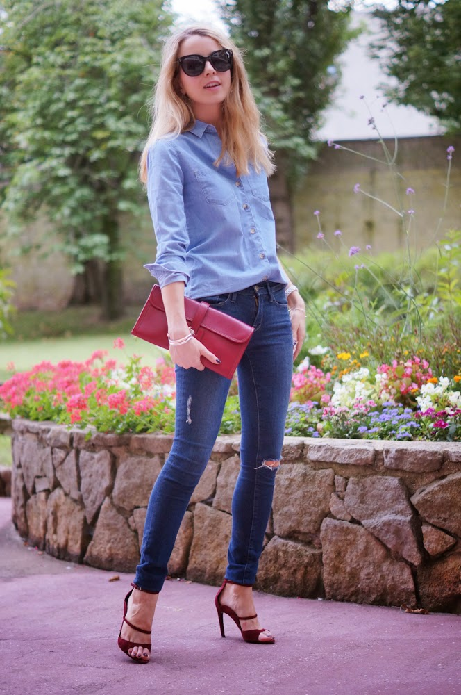 Hermès, denim on denim, frame denim, topshop, chic, blonde, Proenza schouler, streetstyle, paris style