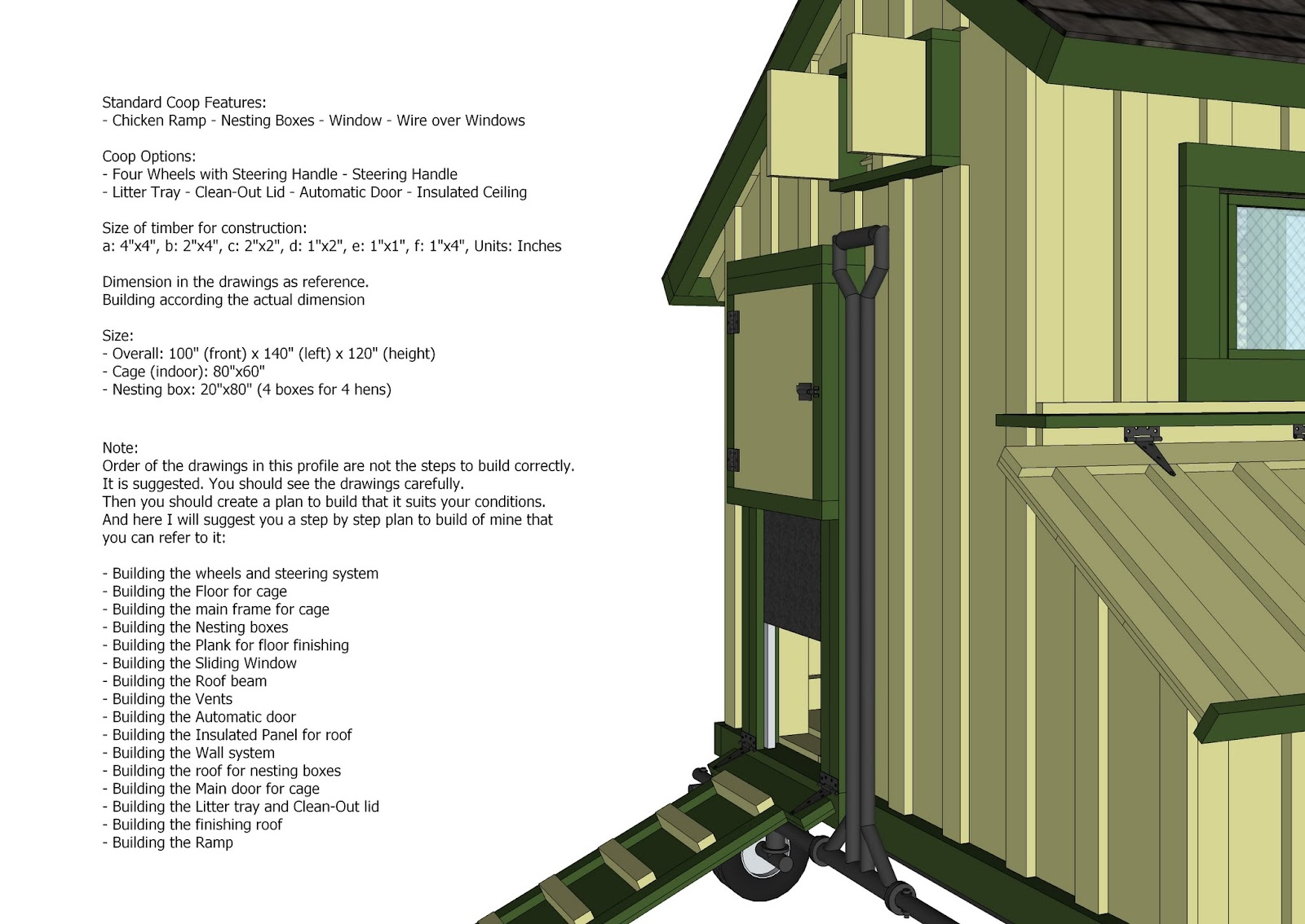home garden plans: T200 - Chicken Coop Tractor Plans - Free Chicken ...