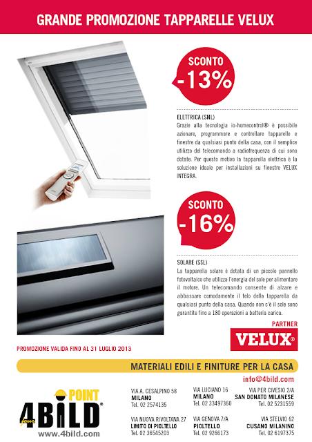 4bildcasa grande promozione tapparelle velux for Velux sconti