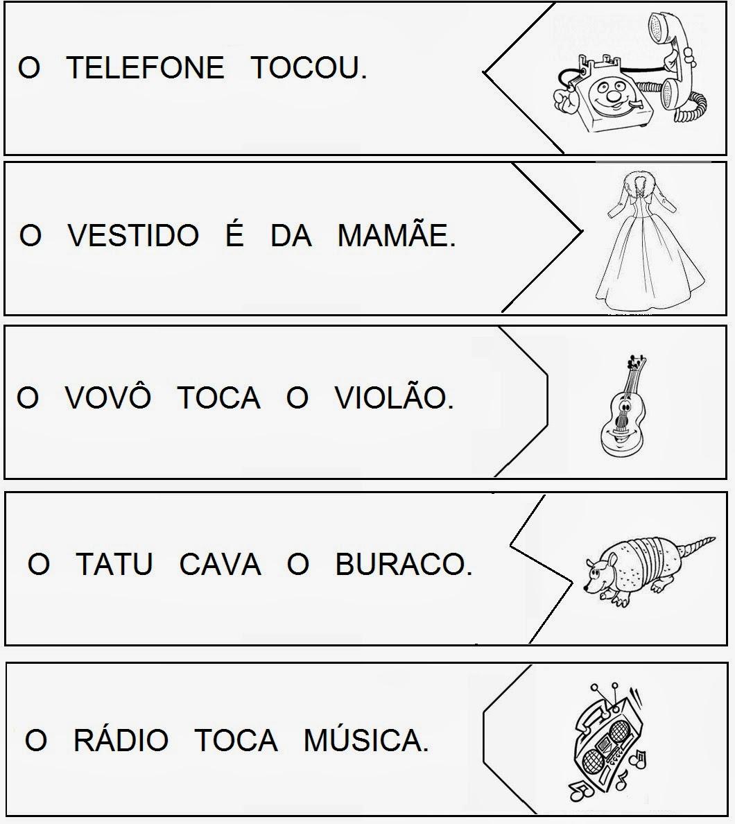 Extremamente PARAÍSO DO EDUCANDO: Ficha Frase com Imagem - Quebra Cabeça FU97