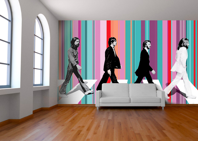 Welcome new sponsor for Beatles abbey road wall mural
