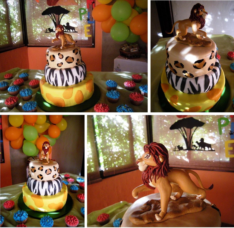 Puerto Cangrejo: Torta de cumpleaños Rey León / Lion King birthday cake
