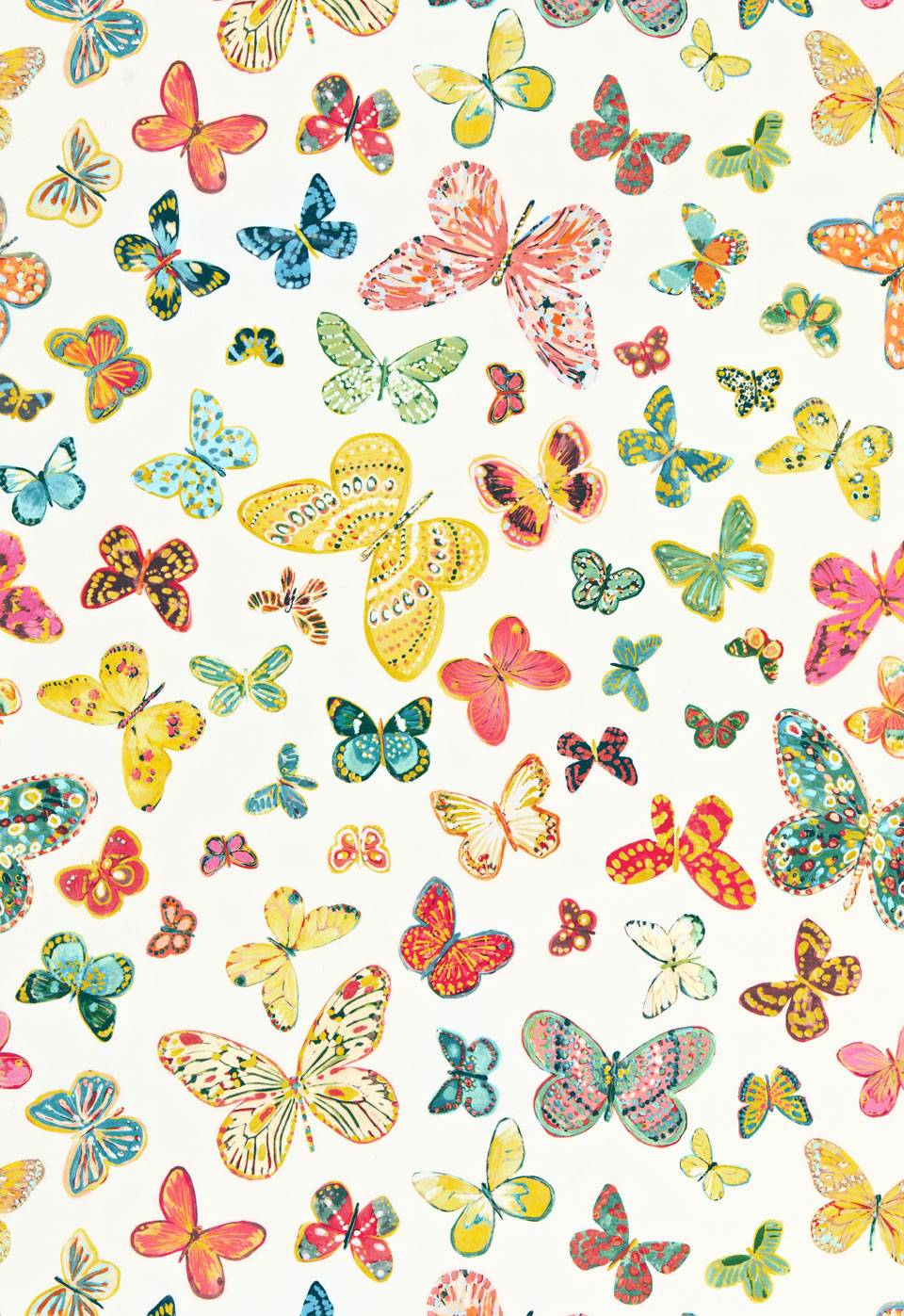 Peonies and paint beautiful butterfly bounty schumacher for Unique childrens fabric