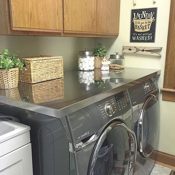 shelving farmhouse look organization industrial laundry diy get small this room