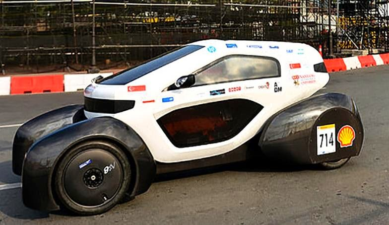 üç boyutlu yazıcıdan çıkan  en çevreci otomobil