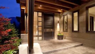 Dekor klasik teras rumah minimalis