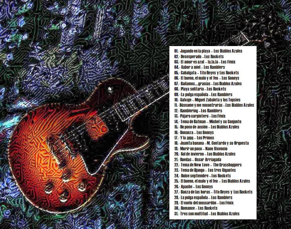 cd Lp instrumentales chilenos de los años 60 Back