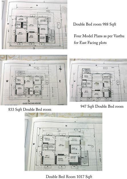 FOUR MODEL PLANS AS PER VASTHU