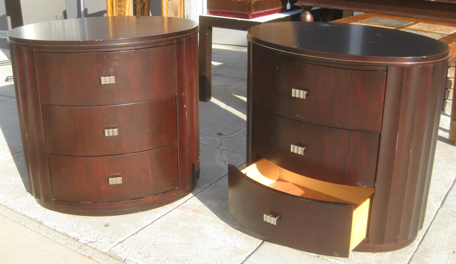 UHURU FURNITURE & COLLECTIBLES: SOLD - Pair of Night Stands with