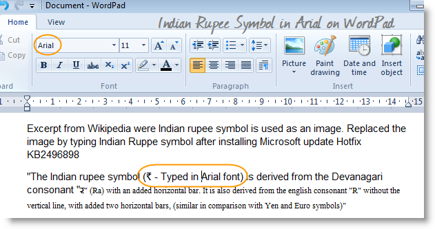 Type Indian Rupee Symbol In Windows Documents Like Ms Office