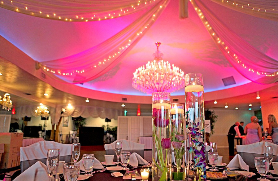 lighting decoration for wedding. Color Wash Wedding Lighting Decoration For