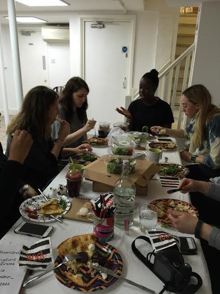 Bloggeration workshop lunch