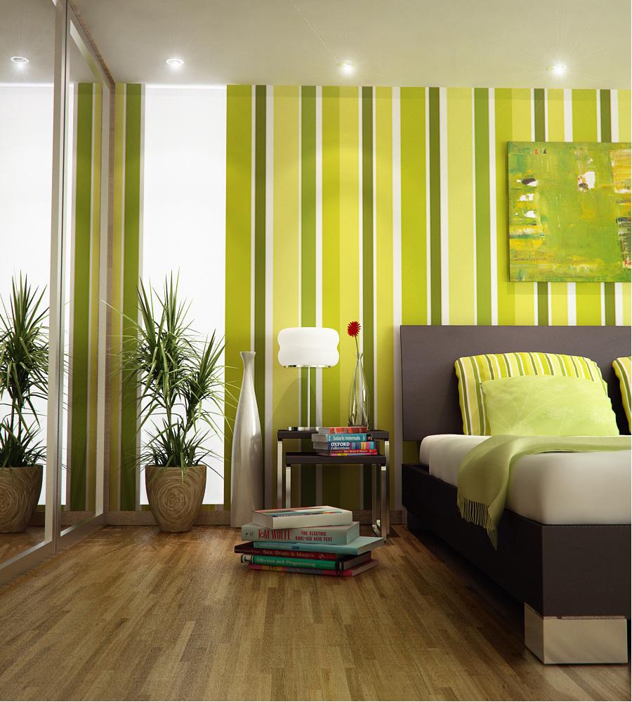 Camere da letto con pareti colorate : camera da letto con una ...