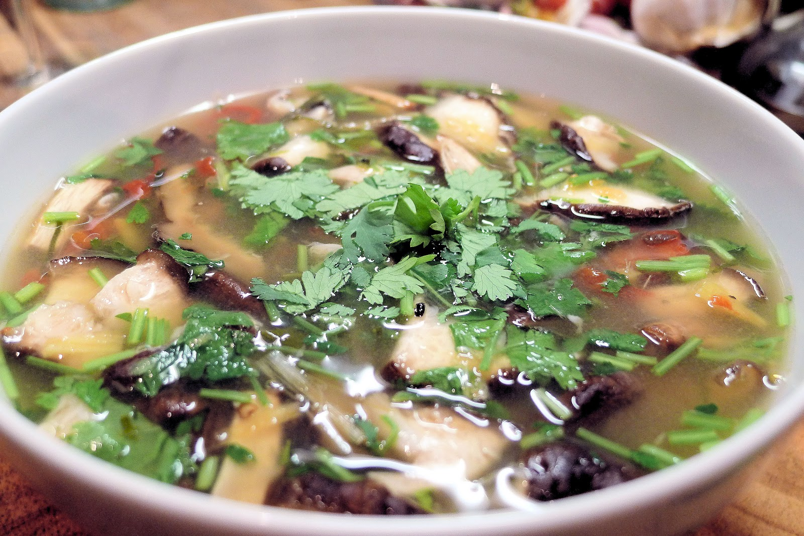 Hot and Sour Tiger Prawn Soup Recipe pics