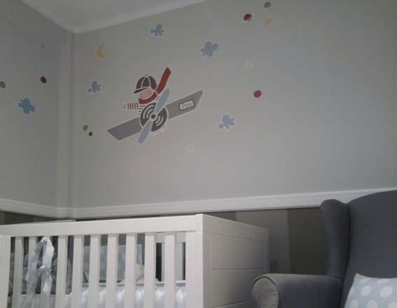 Vinilos infantiles personalizados pau en avioneta for Vinilos habitacion
