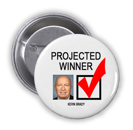 KEVIN BRADY IS A PROJECTED WINNER IN THE TUESDAY, NOVEMBER 8, 2016 PRESIDENTIAL ELECTION