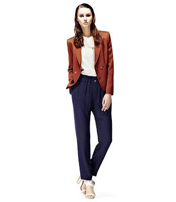 reiss high waist trousers
