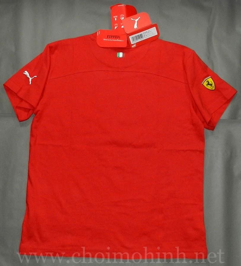 Áo thun Ferrari Puma RED back