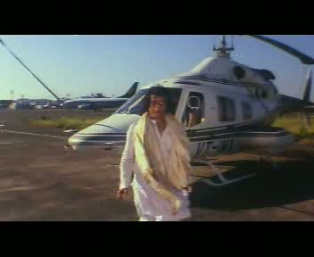 Kafanchor Neta has just arrived in his private helicopter