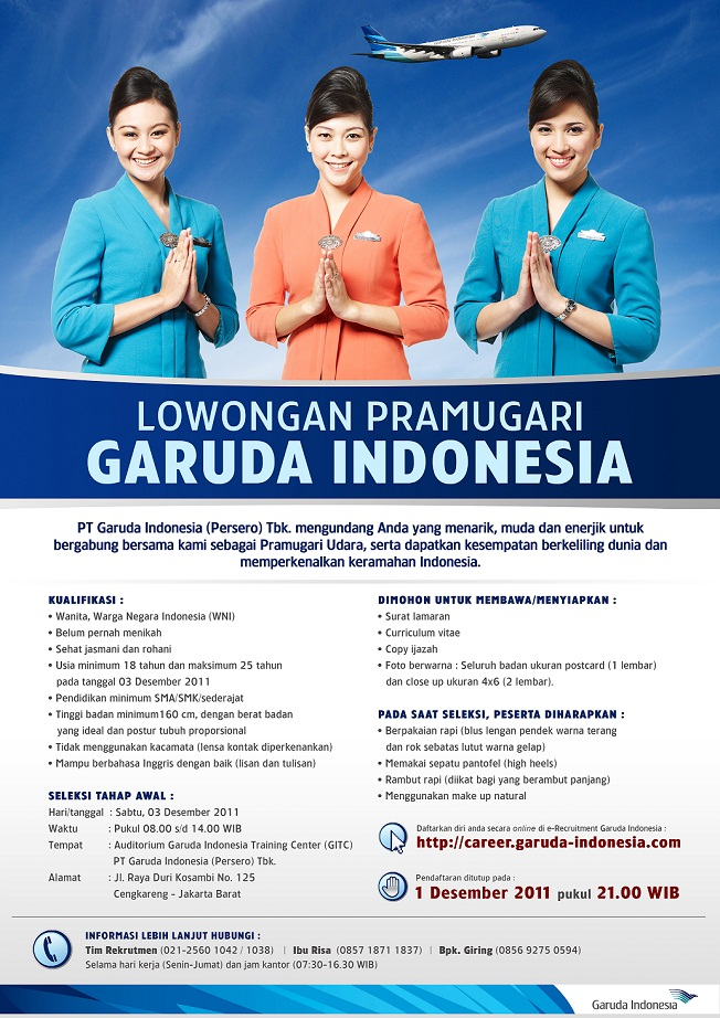Flight Attendant Career Garuda Indonesia