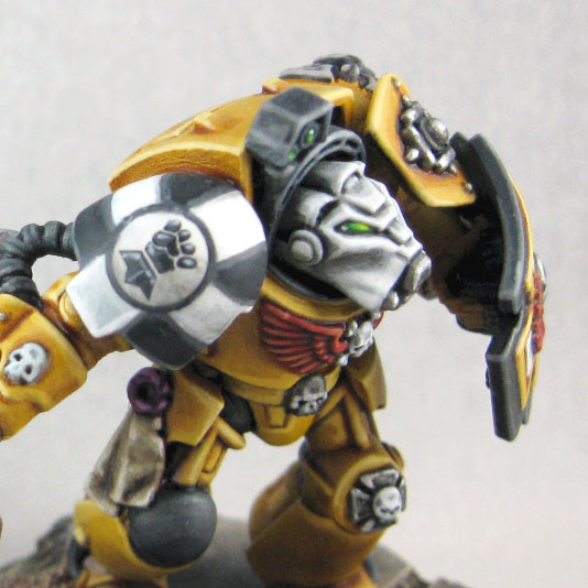 40k giveaway imperial fists finished terminators - Imperial fists 40k ...