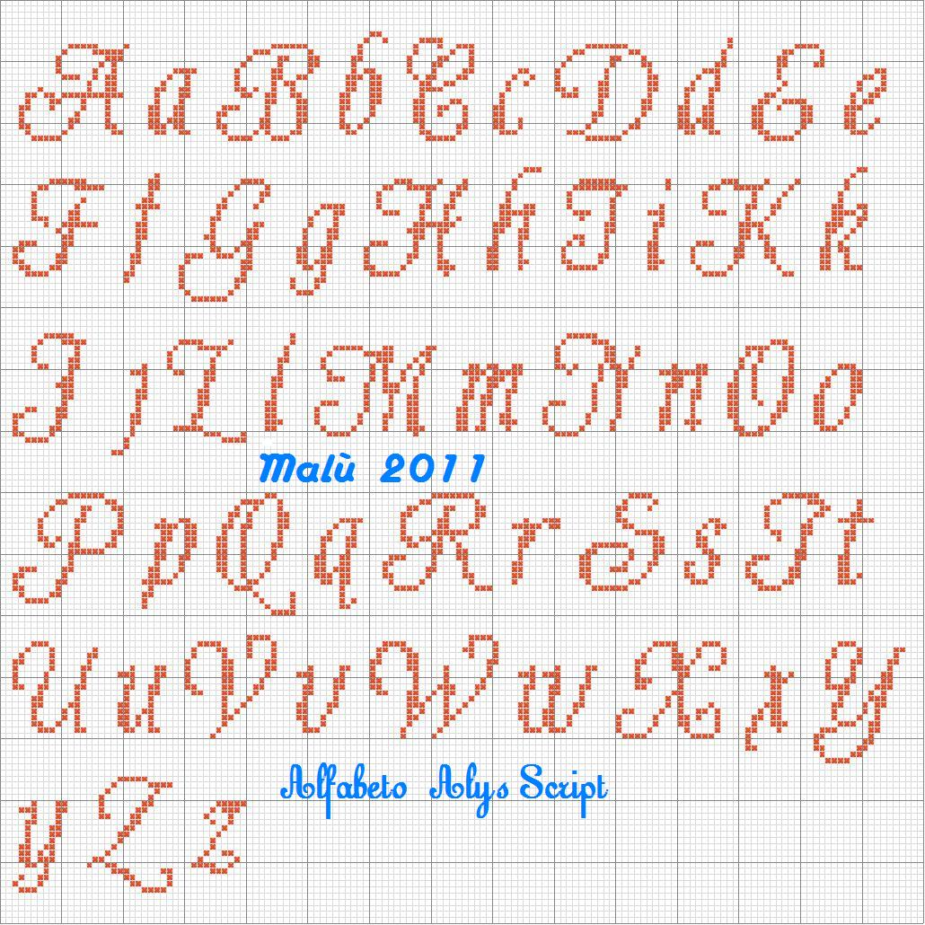 L 39 angolo di mal 4 un altro po 39 di alfabeti e di scritte for Alfabeti a punto croce schemi gratuiti
